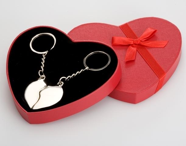 Silber, Schlüsselanhänger geteiltes Herz - LuxurySilver