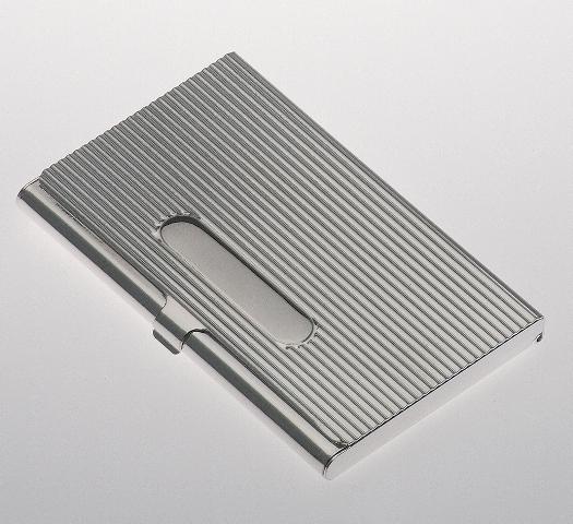 Silber Visitenkartenetui Kreditkartenetui 5 5 X 9 Cm Rillen