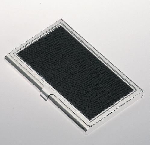 Silber Visitenkartenetui Kreditkartenetui 9 5 X 6 Cm Kunstleder